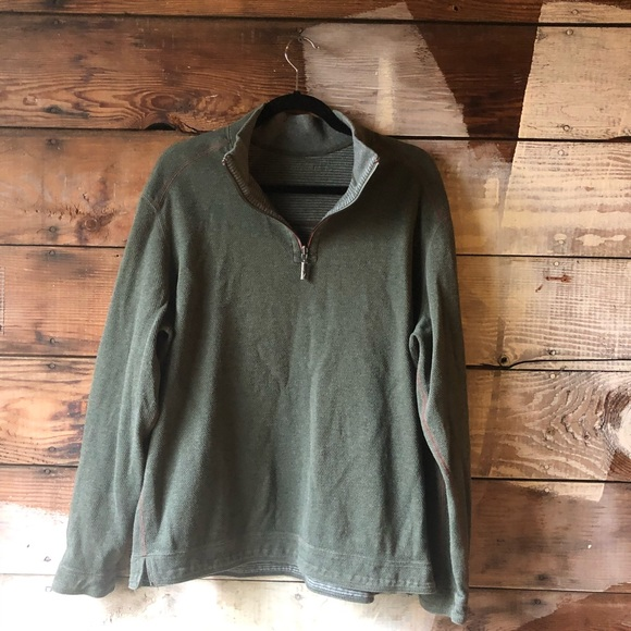 Tommy Bahama Other - Tommy Bahama Large Quarter Sip Pullover Green